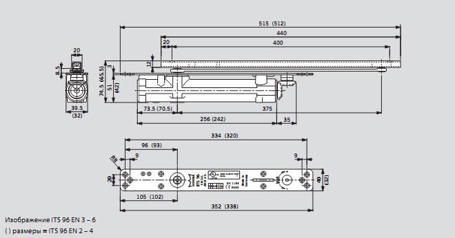 Схема дверного доводчика DORMA