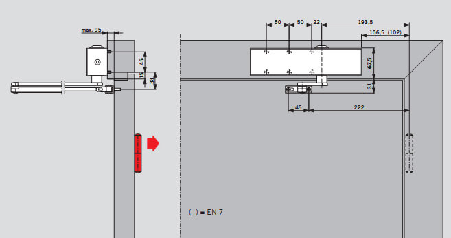 петлям для DORMA TS 83