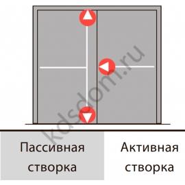 Комплект PHA 2000 F на двухстворчатую дверь до 1300*2270 мм
