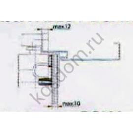 Монтажная пластина на стекло ASSA ABLOY A164